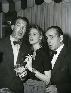 Fred MacMurray, Lauren Bacall & Humphrey Bogart