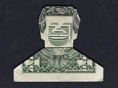 Hello, Up for sale is a beautifully crafted Origami Smiling Dude. It's made with a real 1 dollar bill. It also looks like Huell Howser! It makes a great novelty gift for that special someone in your life! Perfect for: Birthdays, Gradations, . Folding Money, Origami Folding, Origami Easy, Origami Paper, Paper Folding, Origami Tooth, Origami Gifts, Origami Dress, Origami Owl