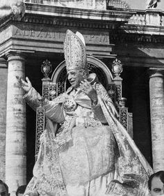 Pius XII during the Marian year of ceremonies