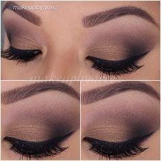 Smokey eye look using Motives eyeshadow in Toast, Chocolight, Onyx, Latte and Vanilla
