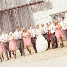 brides and groomsman picture?