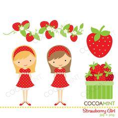 Strawberry Girl Clip Art
