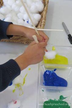 Chopstick painting by Teach Preschool