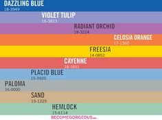 Pantone Spring 2014 Colour Trends Forecast with the top 10 colors of 2014