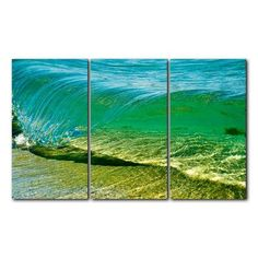 Ready2hangart 'Surf' by Nicola Lugo 3 Piece Photographic Printt on Wrapped Canvas Set