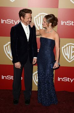 Golden Globes presenter Robert Downey Jr. and his wife, producer Susan Downey.