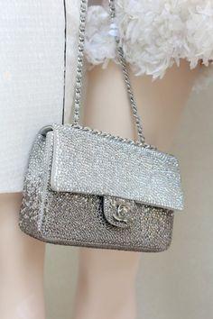 Chanel Bag Silver Sparkle