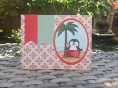 MFT Stamps - Penguins in Paradise stamp set. Card by Mocha Frap Scrapper