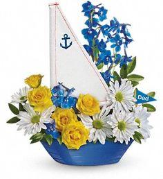 Captain Carefree Bouquet from Villere's Florist. http://www.villeresflorist.com/metairie-florist/4th-of-july-140934c.asp?topnav=TopNav #July4th #NewOrleans #FlowerDelivery
