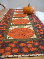 Pumpkin Table Runner tutorial by Judi Madsen from Green Fairy Quilts