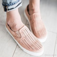 a7777f51b ANGUSH Plus Size Women Flats Shoes Low Help Hollow Breathable Leisure Shoes  Slip On Lazy Sneakers · Round CanvasLoafers ...