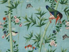 Detail of Chinese wallpaper panel