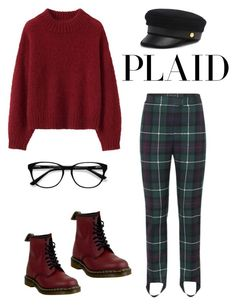 """""""Untitled #44"""" by prttynyellow ❤ liked on Polyvore featuring Burberry, Dr. Martens, EyeBuyDirect.com and Henri Bendel"""