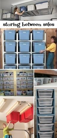 collections of ideas for storing all your consignment goodies between sales