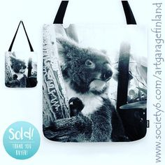 Sold!!! :D .. thanks to the person who recently bought this 'Koala' tote-bag design from my @society6 webshop. #koala #australia #society6 #totebags #koalabear #instakoala #art #instaphoto #artist #downunder #bagoftheday #bags #instalike #instalikes #fotokonst #fotografia #photography #gallery #instaartist #animals #australian #blackandwhite #giftideas #cuteanimals #accessories #fashion #streetstyle #furry #furryfriends #naturalbeauty
