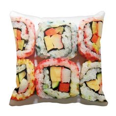 Colorful Japanese Sushi Pillow