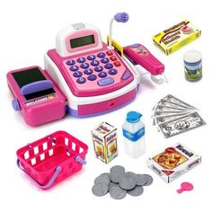Velocity Toys Pretend Play Electronic Cash Register Toy Realistic Actions and Sounds, Pink Little Girl Toys, Toys For Girls, Kids Toys, Learn Basic Math, 4 Year Old Girl, Game Sales, Pretend Play, Games For Kids, Cool Toys