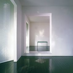 John Pawson - green lacquered floor