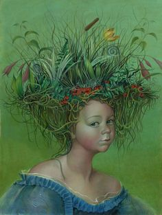 JENNIFER KNAUS  Roots and Weeds  Egg Tempera and Oil on Panel, 2010