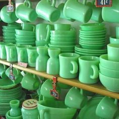 Love this enormous Jadeite collection