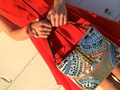 Anthropologie purse and dress