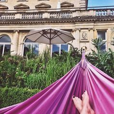 @daisybellabee's got the right idea. Let's all start the week in a giant hammock and rellaaxxxxxxx... #Cotswolds #Cheltenham #luxuryhotel #hotel #visitbritain #relax #boutiquehotel #cowleymanor #travel #holiday #summer