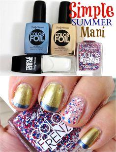 Splatter Mani Nail Hack! @blushingnoir #MySummerLook #CollectiveBias #shop #SallyHansen #nailhack #nailart #independenceday