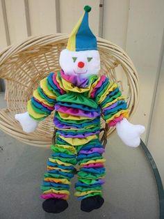 Yo Yo Clown Circus Fabric Quilt Doll