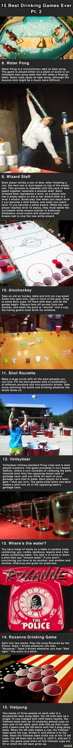 Drinking games can get you f**ked up....