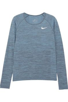 Nike - Dri-fit Textured-jersey Top - Storm blue