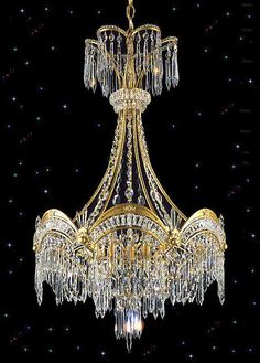 Yes, I could live with this! Victorian Crystal Chandelier at Squitti's