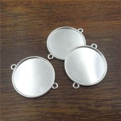 10pcs/20mm Silver Plated Connectors Necklace Pendant Setting Cabochon Cameo Base Tray Bezel Blank Jewelry Findings&components♦️ SMS - F A S H I O N 💢👉🏿 http://www.sms.hr/products/10pcs20mm-silver-plated-connectors-necklace-pendant-setting-cabochon-cameo-base-tray-bezel-blank-jewelry-findingscomponents/ US $1.59