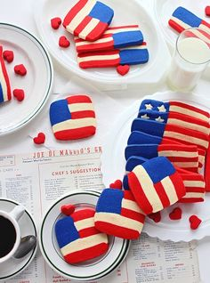 Red White & Blue Flag Shortbread Cookies
