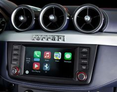 The Ferrari California T infotainment system