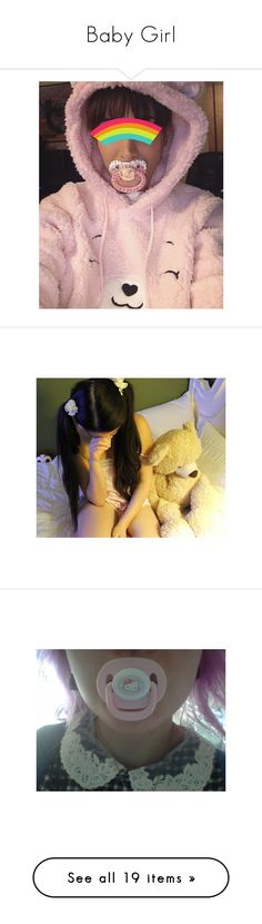 """""""Baby Girl"""" by ittybittybunbun ❤ liked on Polyvore featuring pictures, people, daddy and sexual"""