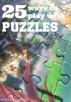 25 ways to play with puzzles | free brain teasers and more to celebrate national puzzle day #weteach
