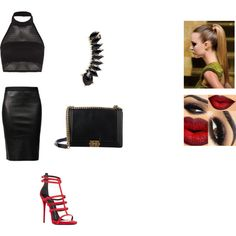Night out in NY by fashion-momma on Polyvore featuring Boohoo, Helmut Lang, Giuseppe Zanotti, Chanel, Jules Smith and NightOut