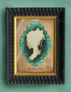 Lady Wilhamina Stewart classic silhouette by BarkingMadArts unframed on etsy $20