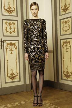 Emilio Pucci Caviar Gold Sequins Dress Love the gold on this Pucci