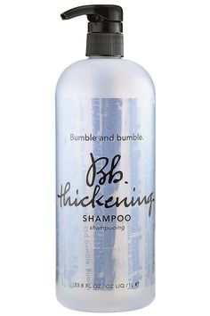 Thick hair is sexy hair–get it by adding this split end-taming shampoo to your regular routine. Bumble and Bumble Thickening Shampoo, $25; bumbleandbumble.com                                                                                                                                                                    - MarieClaire.com