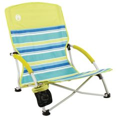 Coleman Utopia Breeze Beach Sling Chair is perfect for a comfortable day at the beach. Low Beach Chairs, Best Beach Chair, Beach Lounge Chair, Folding Beach Chair, Folding Chairs, Lounge Chairs, Room Chairs, Ikea Chairs, Lawn Chairs