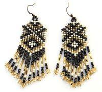 - Схемы для бисероплетения / Free bead patterns -: Схемы сережек / beaded earrings patterns