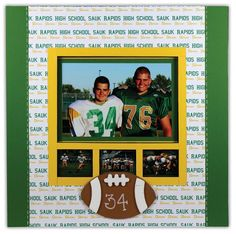 Football SPC Frame by @Crafts Direct Click through link for project instructions.