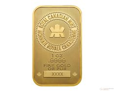 1 oz Royal Canadian Mint Gold Wafer Bar