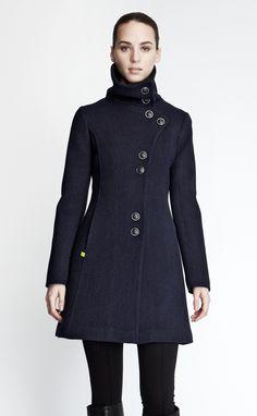 winter coat in a lovely blue
