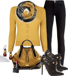 """mustard"" by marnifox on Polyvore"