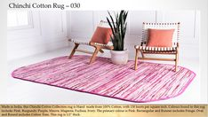 Pink 3 x Chindi Cotton Oval Rug Oval Rugs, India Design, Buy Rugs, Primary Colors, Outdoor Blanket, Burgundy, Colours, Style Inspiration, Contemporary