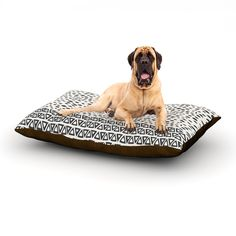 """Pom Graphic Design """"Wind Day"""" White Black Dog Bed #pet #home #forthehome #dogbed #fleece #cozy #tribal #petproduct"""