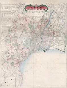 Map of Tokyo, 1879