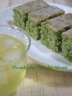 PECADO DA GULA: Bolo de chá verde e limão